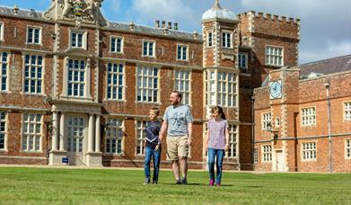 An image of a family outside Burton Constable Hall