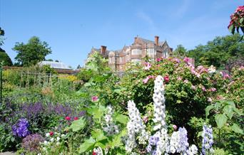 An image of the gardens at Burton Agnes Hall