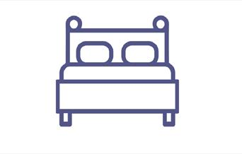 An image of an icon of a double bed