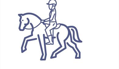An image of an icon of a horse and rider