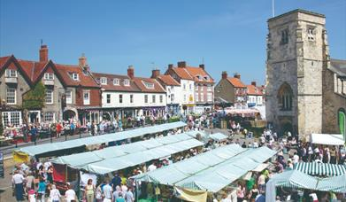 An image of the market, in Market Place, Malton