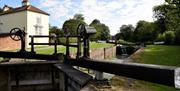 An image of the lock gates at Pocklington canal