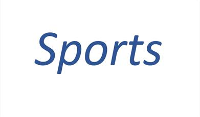 An image of the word 'Sports', representing a wide variety of sporting activities