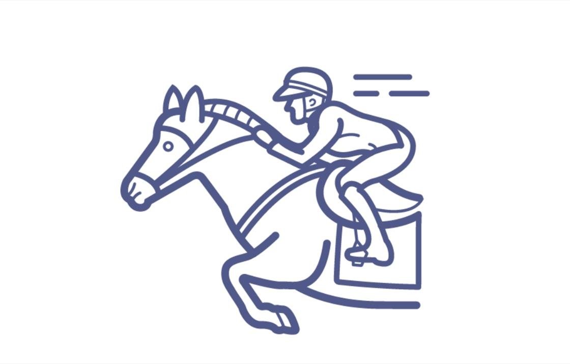 An image of an icon of a galloping horse
